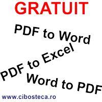Convertor gratuit de fisiere PDF in Word si Excel