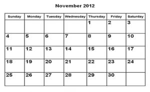 calendar,calendar noiembrie 2012,noiembrie 2012,sarbatori noiembrie,luna noiembrie