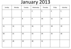 calendar,ianuarie,ianuarie 2013,calendar ianuarie 2013